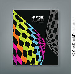 Cover magazine abstract butterfly