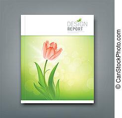 Cover Magazine Beautiful tulips