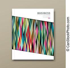 Cover Magazine Colorful Triangle