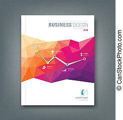 Cover Magazine geometric shapes info-graphic for business...