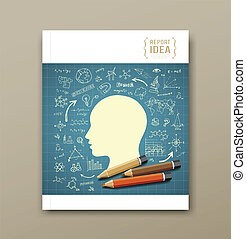 Cover Magazine Sketch science icons - Cover Magazine Sketch...