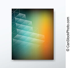 Cover report abstract building - Cover Magazine report...