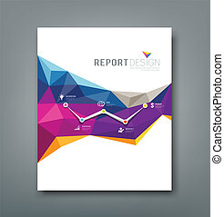 Cover report geometric shapes - Cover report colorful...