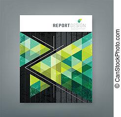 Cover report triangle green design