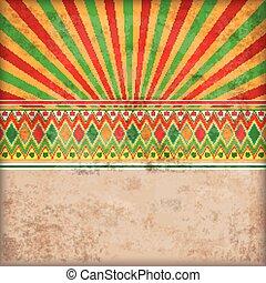 Cover Retro Sun Mexican Ornaments