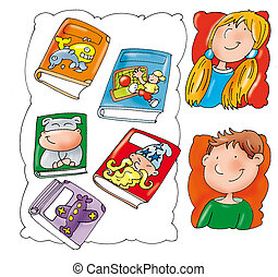 Cover story books, baby, baby