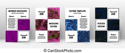 cover., template., conception, sumina, immaculé, résumé