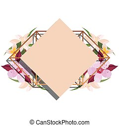 cover template flowers border decoration