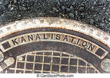 cover to the sewer - cover for sewers, symbolic photo for ...