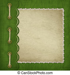 Cover with gold clip and  braid. Design album for St. Patrick's Day