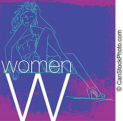 Cover Women. Vector illustration