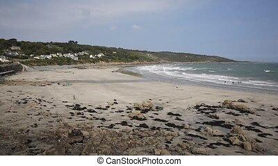 Coverack beach Cornwall UK PAN
