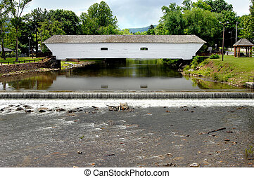 Covered Bridge and Falls