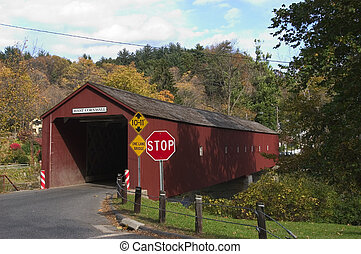 Covered bridge at West Cornwall, Connecticut