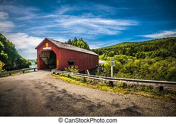 Covered Bridge - Covered bridge located in the region of ...