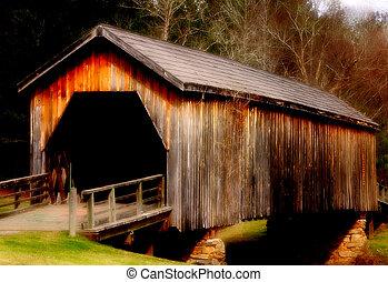 Covered Bridge Nosta - Old covered bridge in rural Georgia