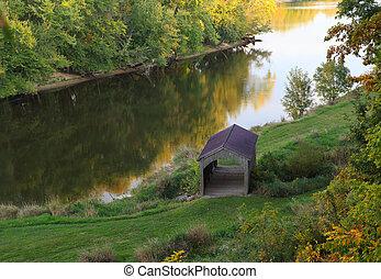 Covered Bridge - Small covered bridge at Grand River Ravines...