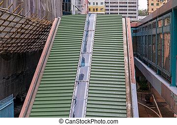 Covered Escalator Roof