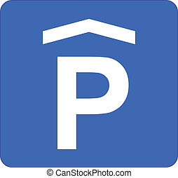 Covered Parking Sign Isolated On White