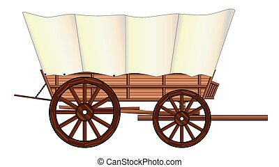 Covered Wagon Wheel - A typical wheel from a western covered...