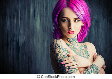 covered with tattoo