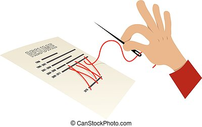 Covering a resume gap - Human hand with a sewing needle...