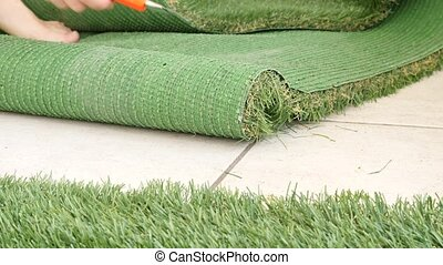 Covering balcony with artificial turf shot clip