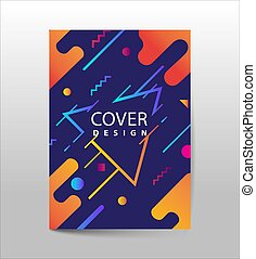 Covers with Flat & Dynamic Design. Geometric shapes Dynamic wavy form with irregular parallel rounded lines in motion. Applicable for Banners, Placards, Posters, Flyers and Banner Designs.