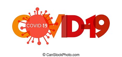 COVID-19. A banner with the symbol of the virus. Vector illustration isolated on a white background