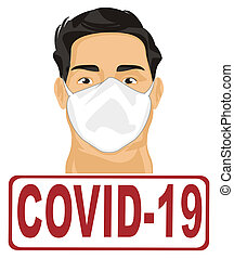 covid-19 and man in mask