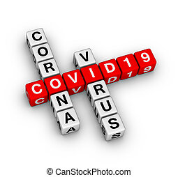 COVID-19 corona virus 3D crossword puzzle
