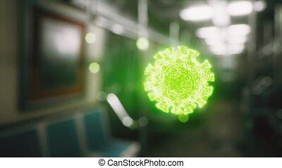 covid-19, coronavirus, épidémie, voiture métro