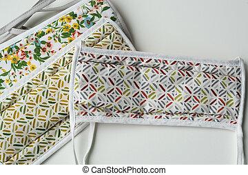 homemade protective fabric mask covid-19