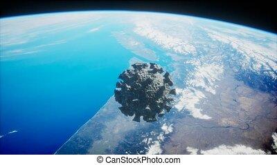 covid-19, coronavirus, la terre, astéroïde