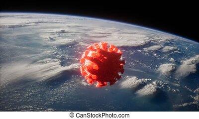 covid-19, coronavirus, la terre, orbite