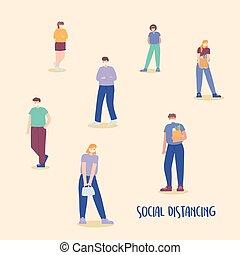 covid 19 coronavirus social distancing prevention, stay away...