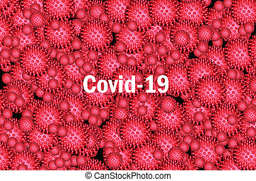inscription COVID-19 background image, the world deadly virus concept