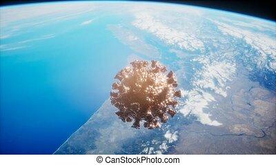 covid-19, la terre, coronavirus, astéroïde