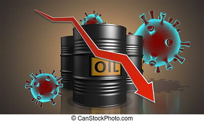 COVID-19. Oil industry in quarantine period. - Fall in oil ...