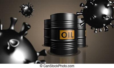 COVID-19. Oil industry in quarantine period. - Three  oil ...