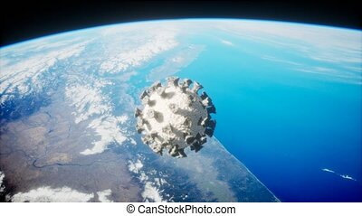 covid-19, orbite, coronavirus, la terre