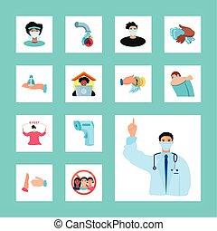 covid 19 prevention basic protective measures against the new coronavirus vector illustration