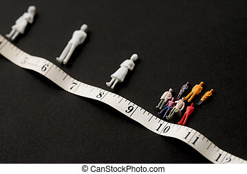 Covid-19, social distance, concept. Figures of people ...