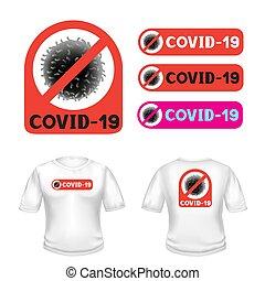 covid-19 stop coronavirus t-shirt sticker