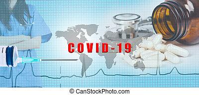 covid-19 vaccine background concept