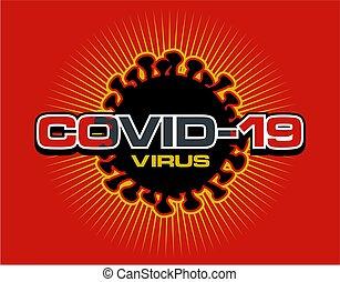 covid-19 virus logo design used to represent the worldwide coronavirus epidemic