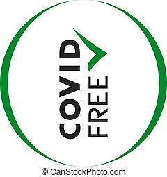 covid free flat symbol message