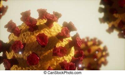 covid, virus, macro, 19, modèle, couronne