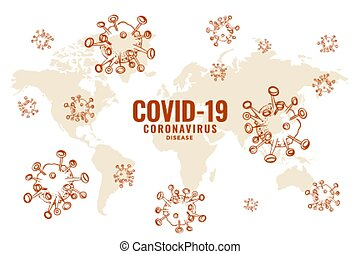 covid19 coronavirus global spread outbreak background design