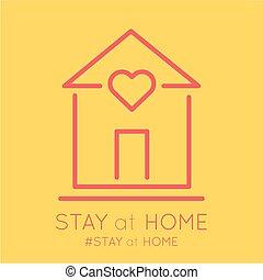 covid19, hjem, meddelelse, ophold